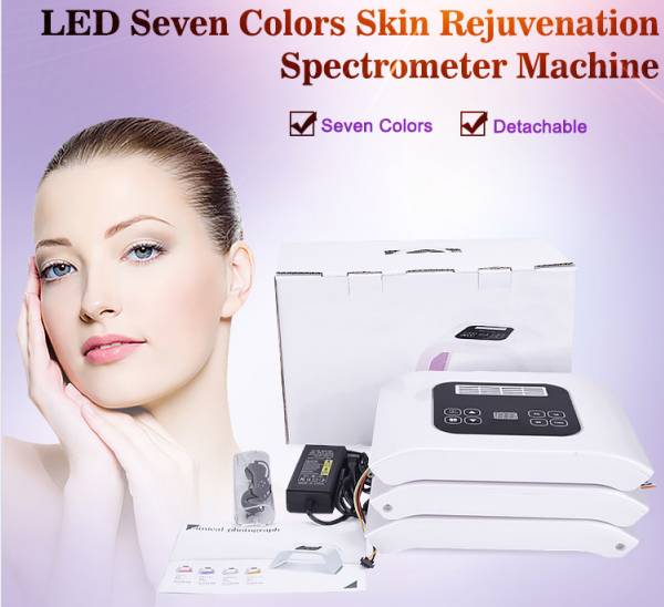 LED light therapy machine with seven colors features