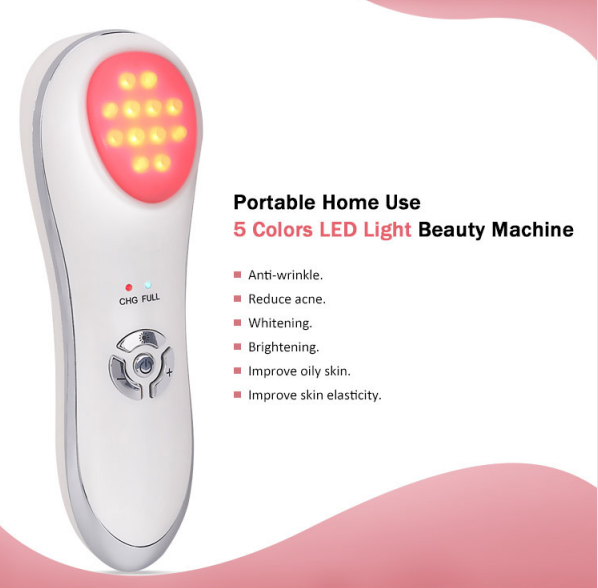 Portable home use 5 colors LED light beauty machine features