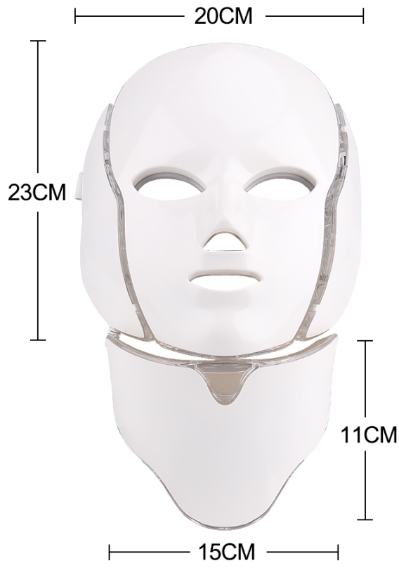 LED therapy facial mask size