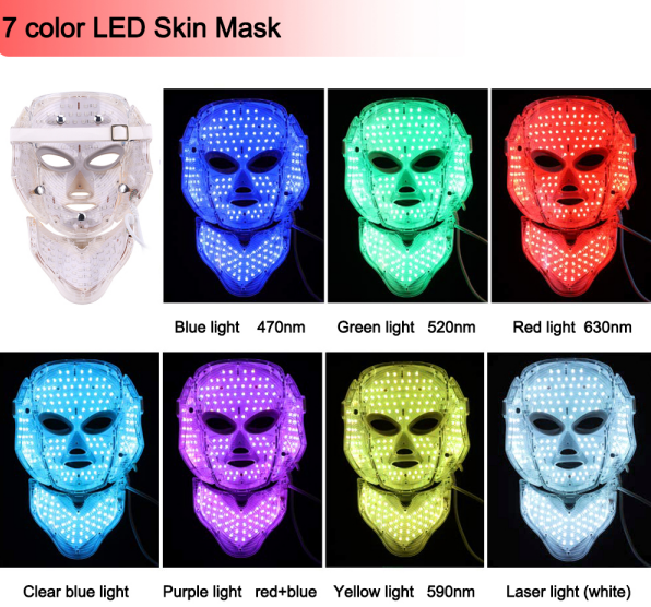 LED therapy facial mask colors