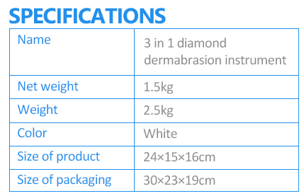 Home use skin peeling portable microdermabrasion machine specifications