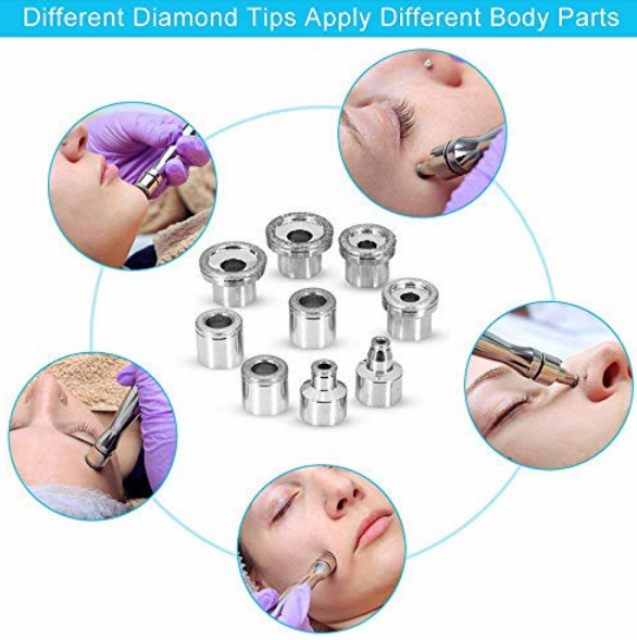 Home use skin peeling portable microdermabrasion machine tips