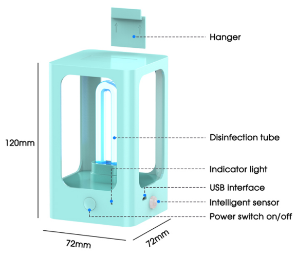Disinfection UV Sterilizer Lamp structure