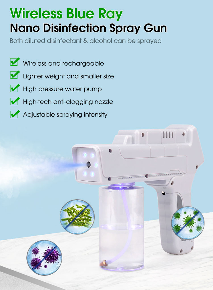 Blue Ray Nano Disinfectant Wireless Nano Spray Gun features