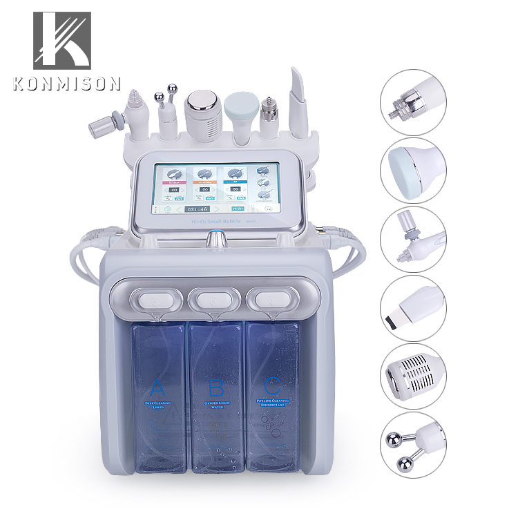 LB245 6 in 1 RF oxygen bubble face scrubber and dermabrasion machine