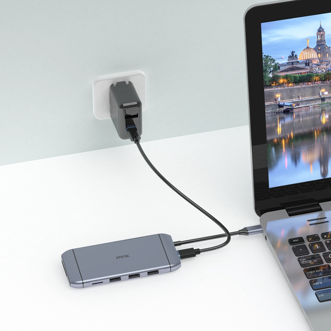 USB-C HUB 9-in-1 Docking Station