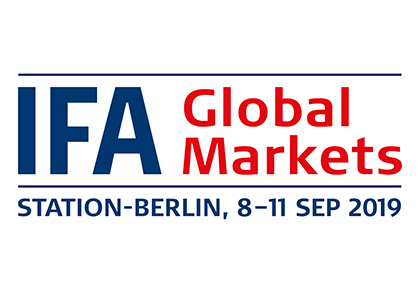 2019 Berlin Consumer Electronics Show IFA Global Market - Welcome to visit us at 114/S7