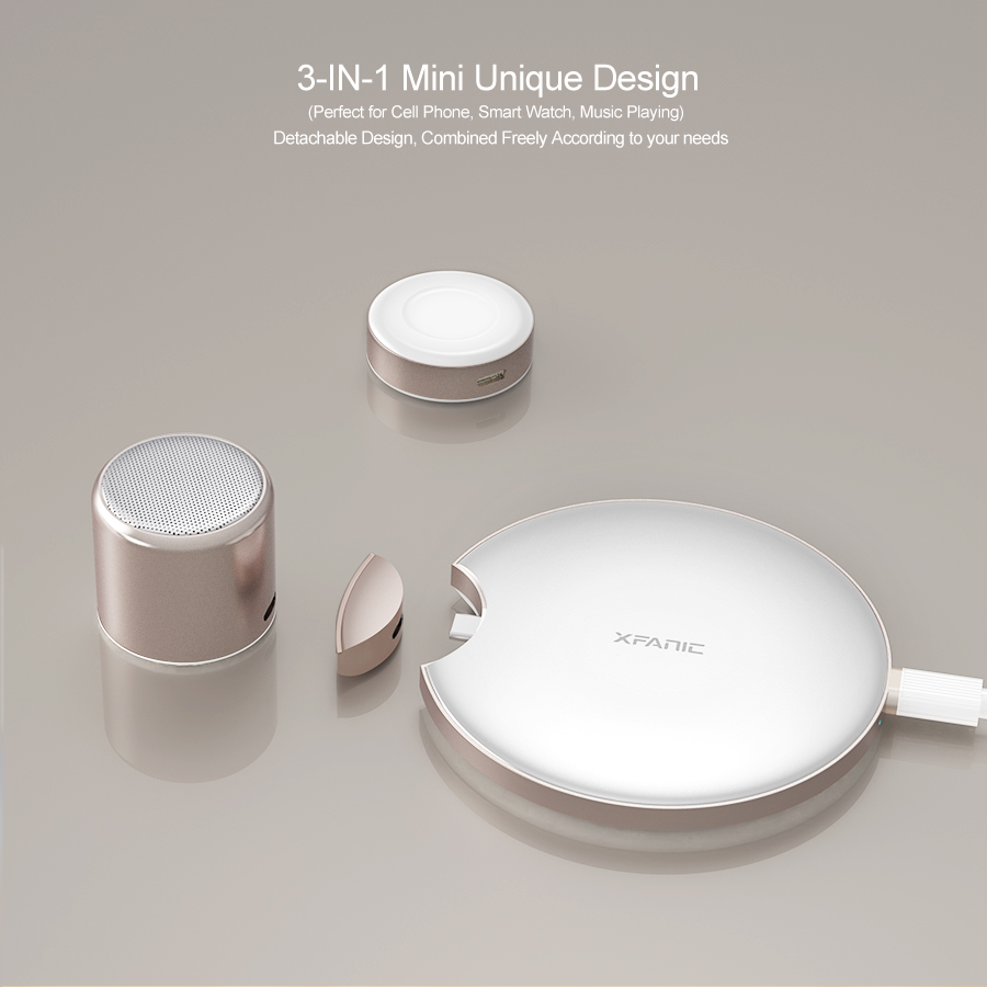 Qi Wireless Charging Pad 3 in 1 with Bluetooth Speaker