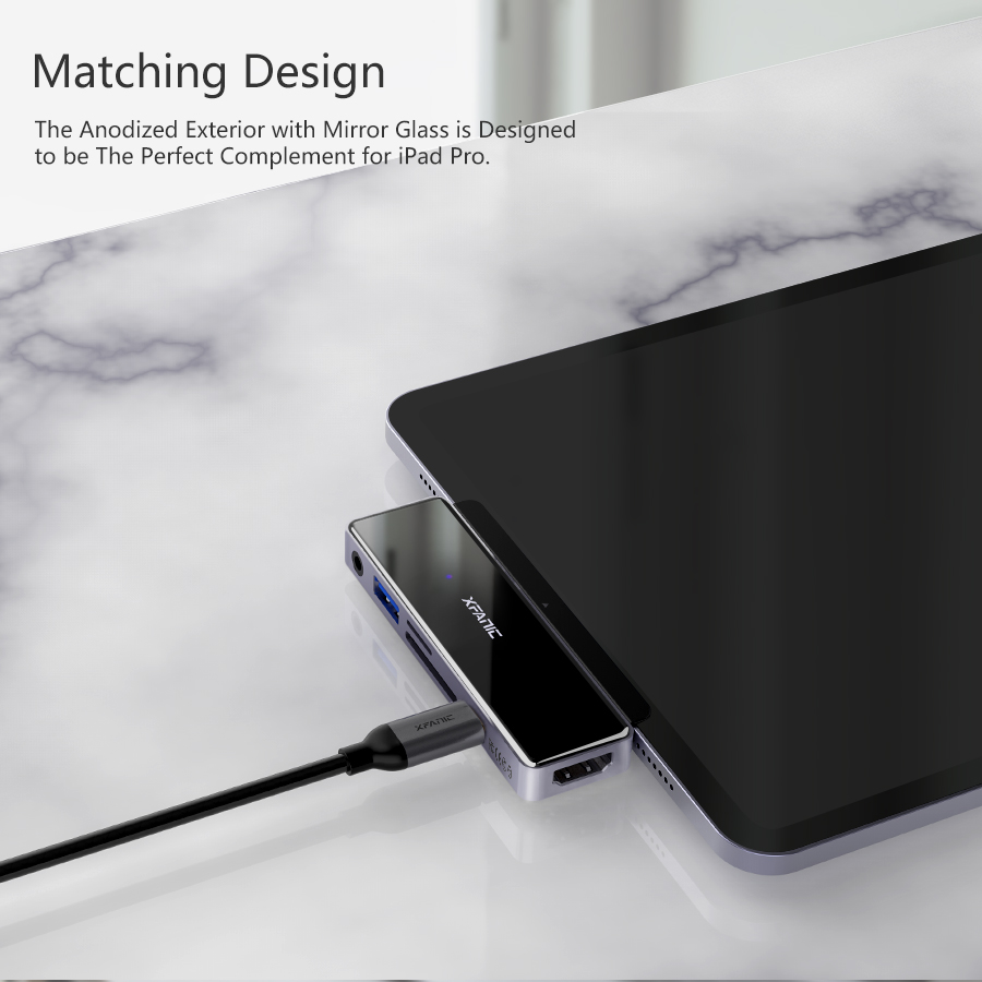Best USB C Hub Aluminum with HDMI 4K@60Hz for iPad Pro