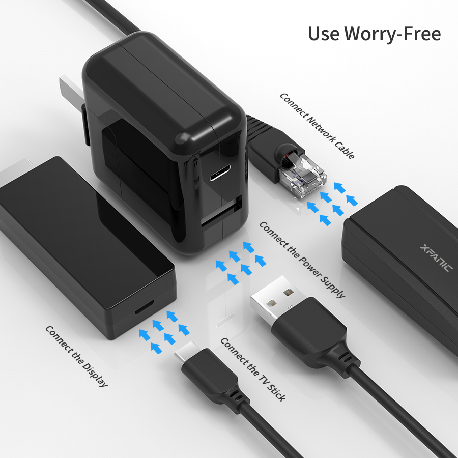 Micro USB to RJ45 Ethernet Adapter 480Mbps