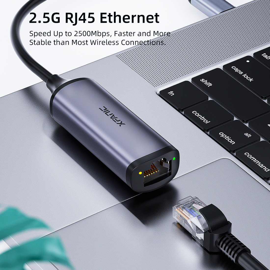 USB-C to 2.5G Ethernet Adapter 10/100/1000M/2.5G