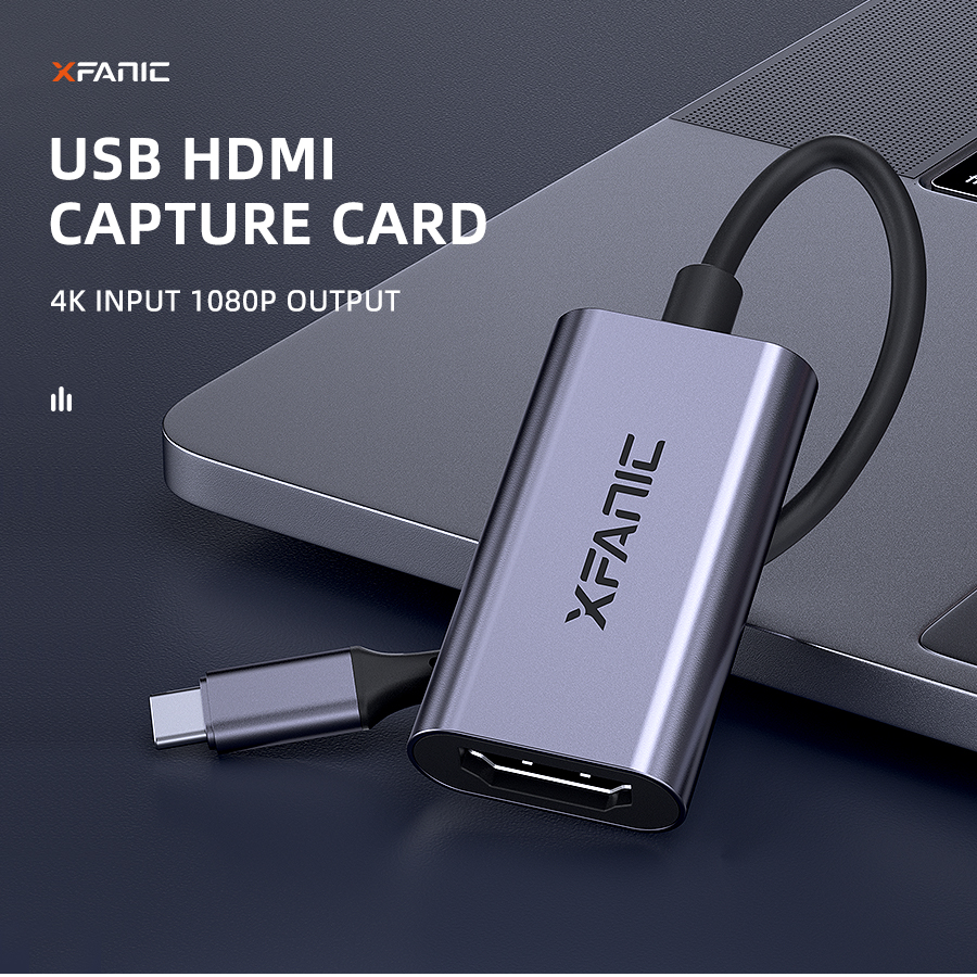 USB Capture Card, HDMI to USB Video Capture Device for Live Streaming