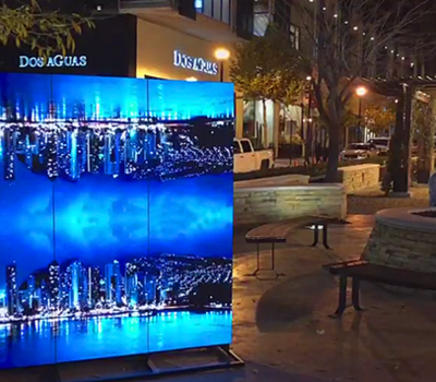Eye-catching poster led display