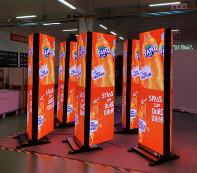 P3mm double-sided led poster display
