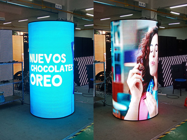 Signic high resolution flexible advertising led display