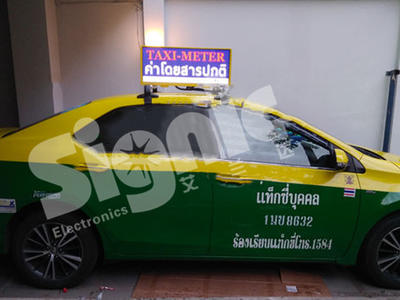Signic 100PCS P3 Slim Taxi Top LED Display in Thailand