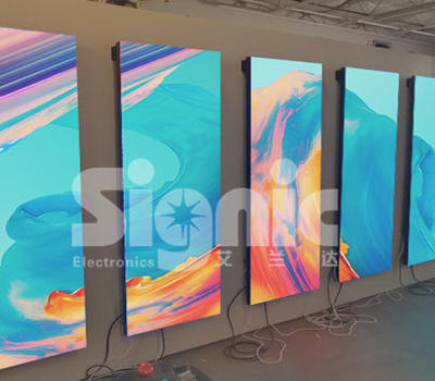 6pcs Digital LED Poster for Wall Mounted Installtation