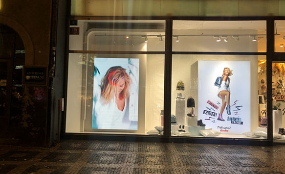 Are you looking for glass window LED display?