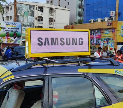P5 Taxi Roof top Advertising Sign Debuts in Cameroon