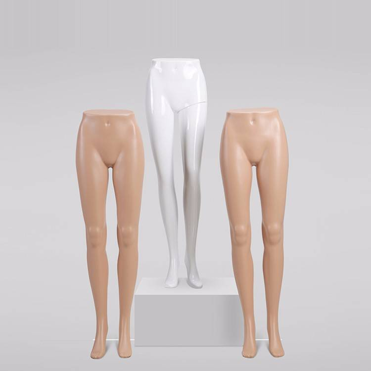 Female lower half body mannequin plastic mannequin leg(FT series plastic female leg mannequin)