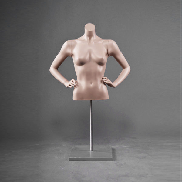 Half body hanging female torso half torso mannequin with arms (DF series hanging female torso mannequin collection)