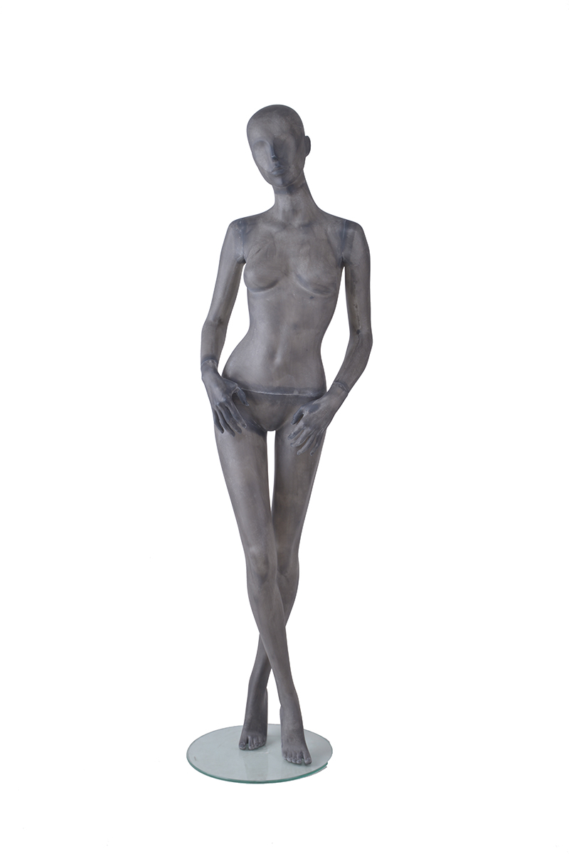Fiber glass full body vintage beautiful abstract female posing mannequin for store