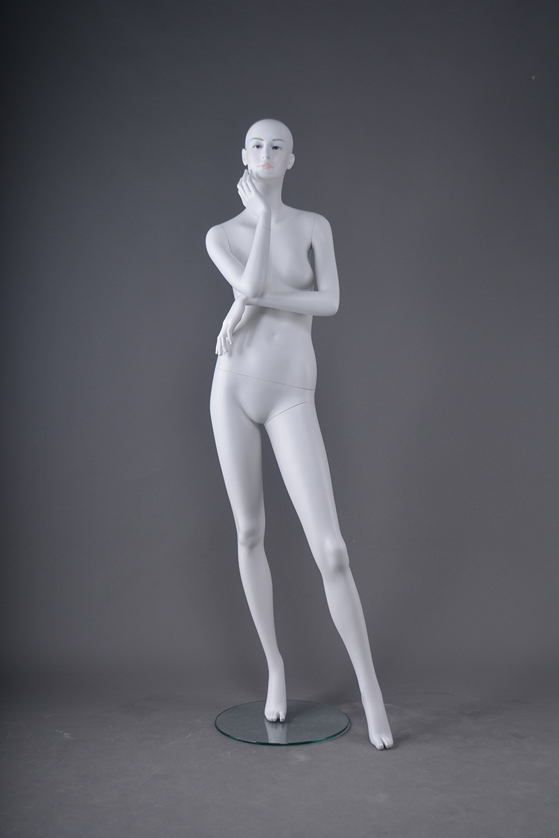 High-quality eco-friendly PP plastic skin color full-body stand makeup female mannequin clothing display mannequin