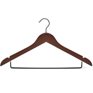 Customized Adult Clothes Hangers Velvet Wood Hanger For Trousers And Skirts