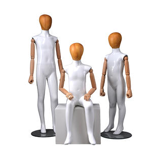 Wholsale Fiberglass Mannequin Full Body Abstract Glossy Child Mannequins On Sale (EH 6-10 Years Old Child Mannequin)