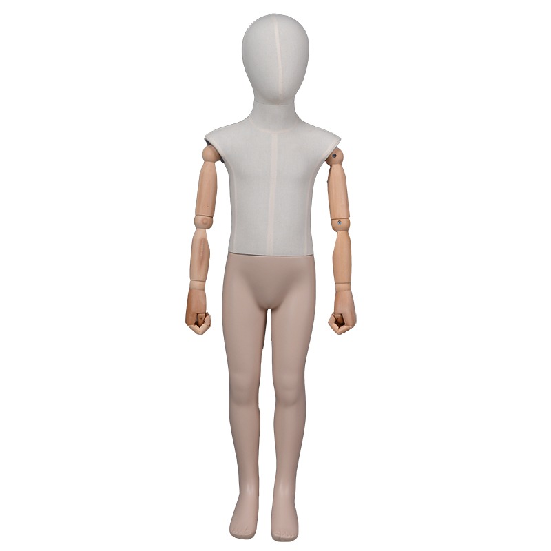Fabric wrapped mannequin kids standing child display mannequins for clothing display (KMZ )