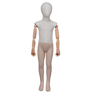Fabric wrapped mannequin kids standing child display mannequins for clothing display (KMD )