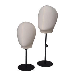 High quality fabric linen abstract head mannequins for sale