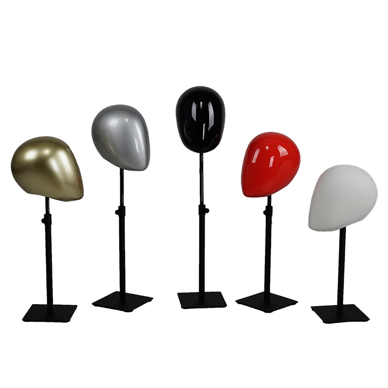 High quality glossy abstract head mannequins for accessories display (LMH)