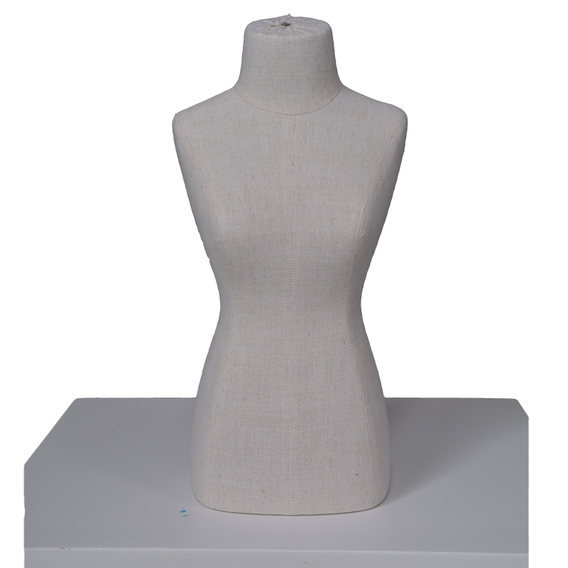 Cheap wholsale fabric form mannequin necklace display mannequin bust(DMH)