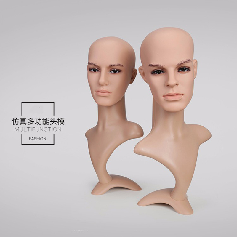 Customized makeup mannequin head with shoulders for wig display mannequin head(SMH)