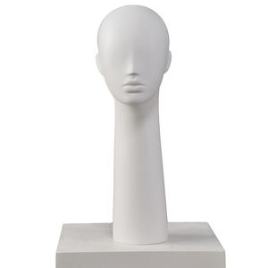 Customized male female head mannequin abstract fiberglass mannequin head for hat