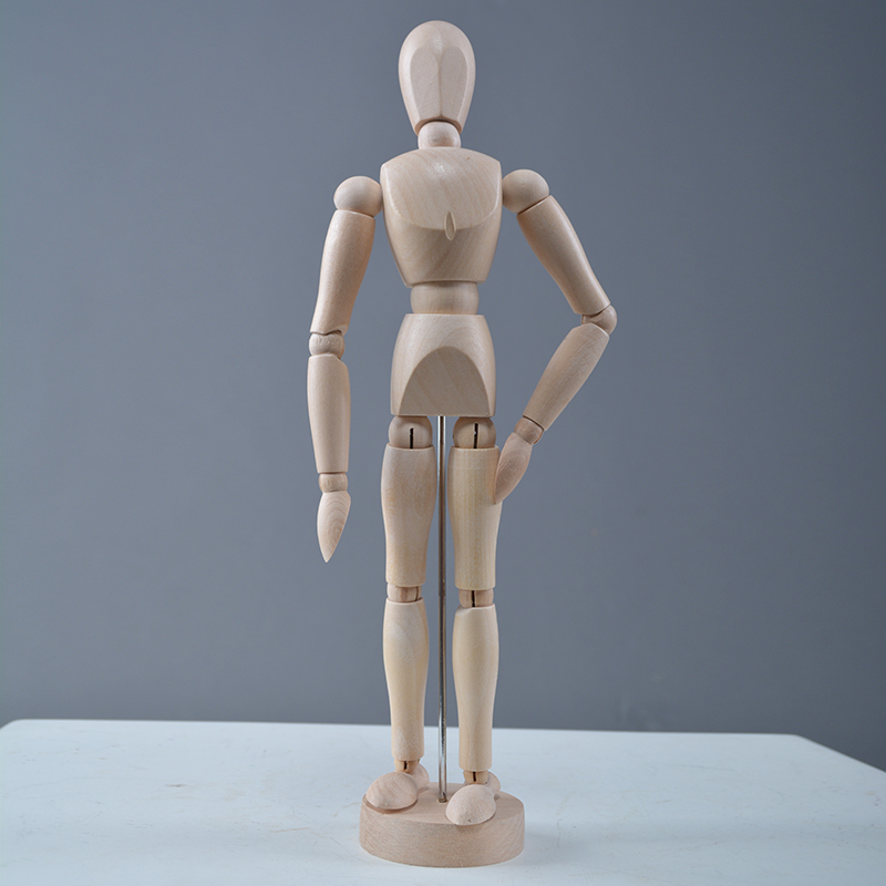 Customized wooden display mannequin little display props wooden mannequins for sale