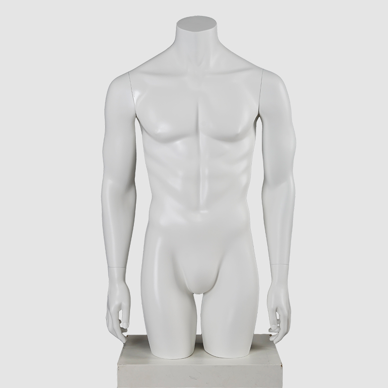 Customized half body mannequin torso male clothes store mannequins for sale