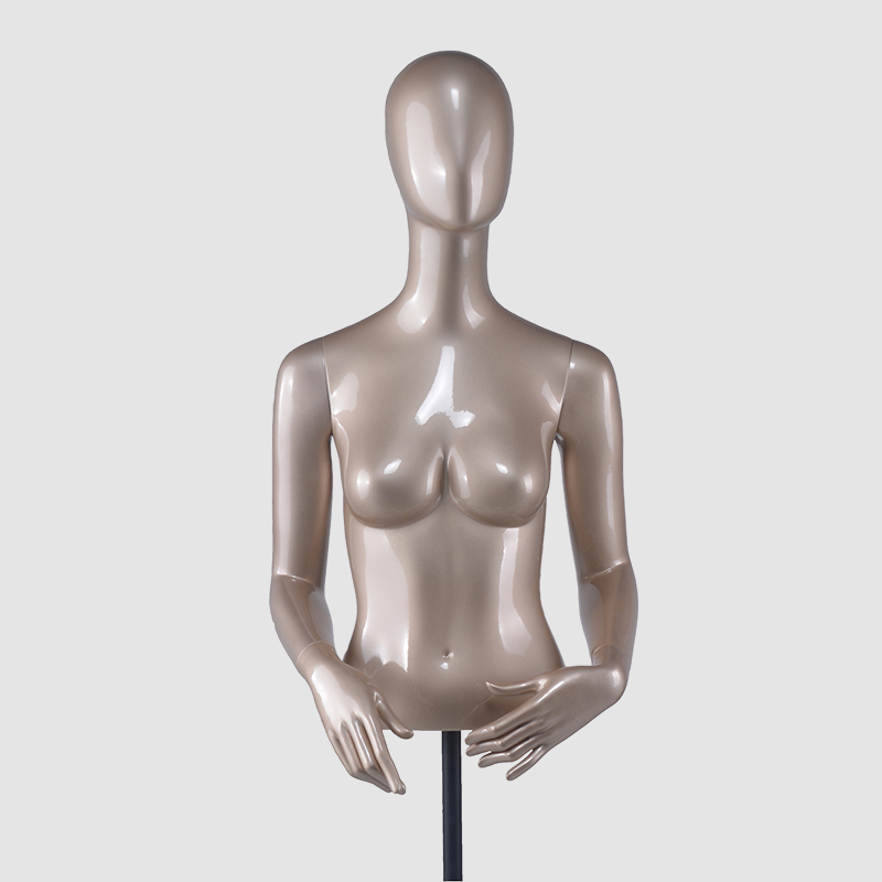 Fashion mannequin bust torso half body form cloth male mannequin torso with head (DH hanging female torso mannequin)