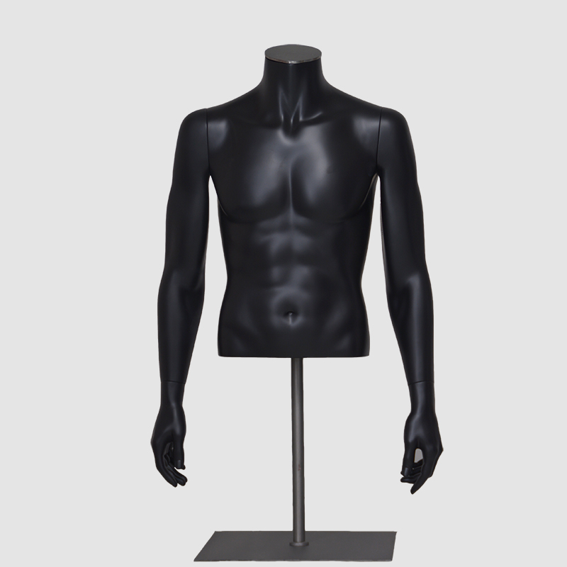 Half body mannelijke mannequin doek mannelijke buste mannequin plus size model buste mannelijke torso display dummy (HMT serie Half Body Male Mannequin)