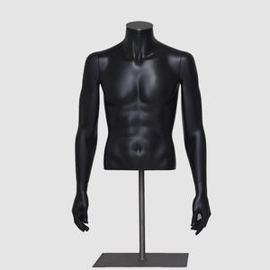 Half body male mannequin cloth male bust mannequin plus size model bust male torso display dummy