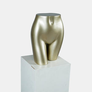Glossy gold torso mannequin female hips mannequins for sale(EMH)