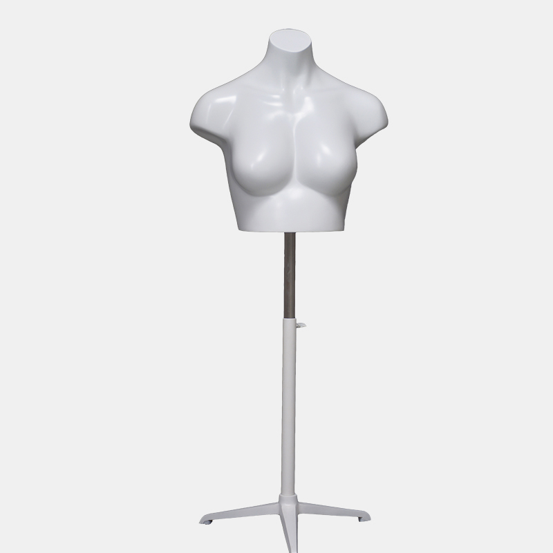 Matte white fashion half mannequin for bra(KBH)