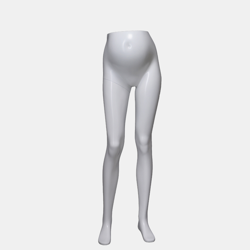 Matte white fashion pregnant mannequin female torso for pant(LBH)