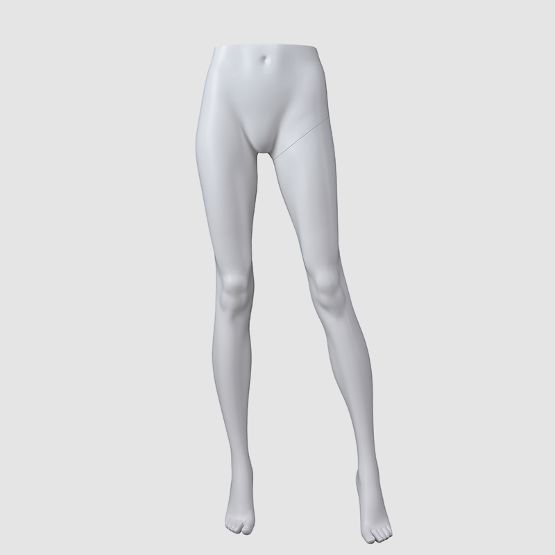 High Quality Matte White Lower Leg Mannequin Male Torso Mannequin For Sale(ACH)