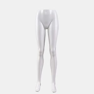 High Quality Glossy White Lower Leg Mannequin Female Torso Mannequin For Sale(BCH)