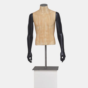 Customized half body male torso mannequin for clothing display(TCH)