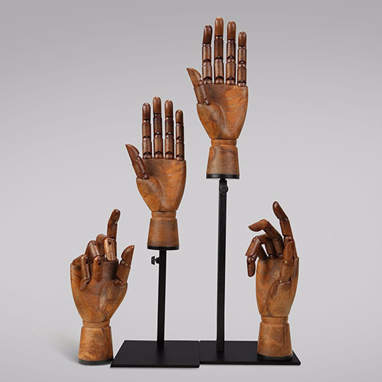 Customized vintage plastic flexible mannequin hands for accessories display(LH)