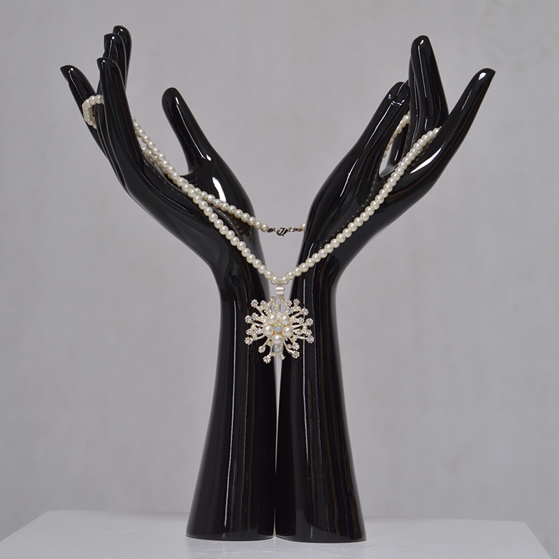 Display mannequin fiberglass black jewelry hand display for sale(AH)