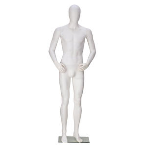 Full body fashion transparent plastic male mannequin for garment display